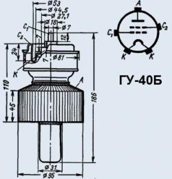 Лампа генераторная ГУ-40Б