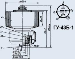 Лампа генераторная ГУ-43Б-1