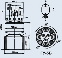 Лампа генераторная ГУ-5Б