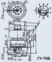 Лампа генераторная ГУ-70Б