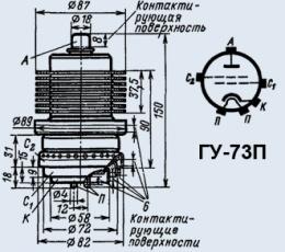 Лампа генераторная ГУ-73П