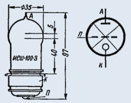 Лампа импульсная ИСШ-100-3М