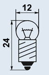 Лампа миниатюрная МН-13.5-0.16 Е10/13