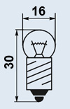Лампа миниатюрная МН-6.5-0.34 Е10/13