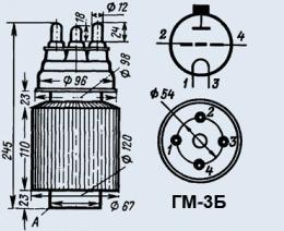 Лампа модуляторная ГМ-3Б