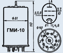 Лампа модуляторная ГМИ-10