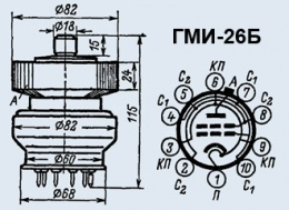Лампа модуляторная ГМИ-26Б
