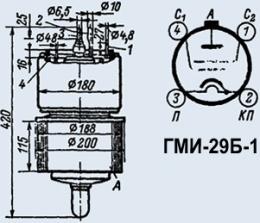 Лампа модуляторная ГМИ-29Б-1
