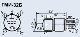 Лампа модуляторная ГМИ-32Б