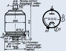 Лампа модуляторная ГМИ-38