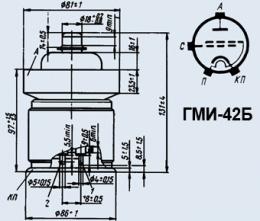 Лампа модуляторная ГМИ-42Б