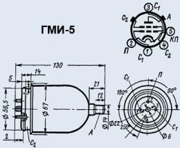 Лампа модуляторная ГМИ-5