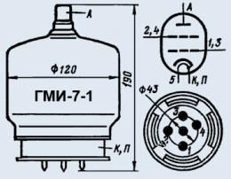 Лампа модуляторная ГМИ-7-1