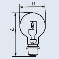 Лампа накаливания ПЖ-24-300 Р40s/41