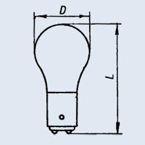 Лампа накаливания РН-110-8 В15d/18