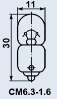 Buy Lamp plane CM-6.3-1.6 of B9s/14