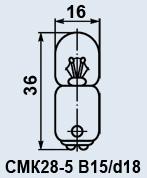 Buy Lamp plane CMK-28-5 of B15d/18