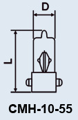 Buy Lamp the subminiature CMH-10-55