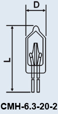 Buy Lamp the subminiature CMH-6.3-20-2