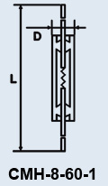 Купить Лампа сверхминиатюрная СМН-8-60-1