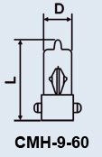 Buy Lamp the subminiature CMH-9-60