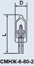 cumpără Super Mini lampa SMNZh-6-80-2