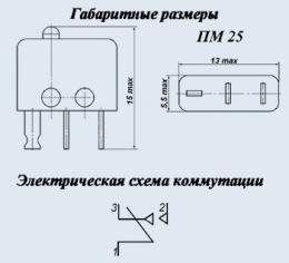 Buy PM25-1V microswitch