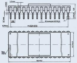 Микросхема 580ВВ55