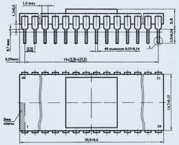 Микросхема 580ВТ57