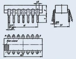 Микросхема К155ИЕ2