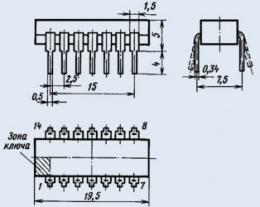 Микросхема К155ЛЛ1