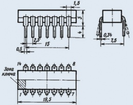 Микросхема К155ЛН5