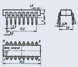 Микросхема К155ЛН6