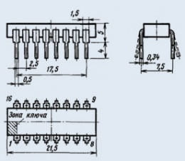 Микросхема К155ЛП10