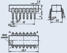 Микросхема К155ТЛ1