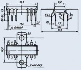 Микросхема К174ГЛ1А