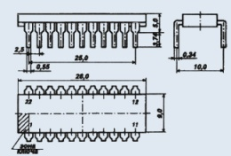Микросхема КР1008ВЖ5А