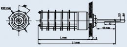 Купить Миниатюрный галетный переключатель ПГ7-48-20П2НВ
