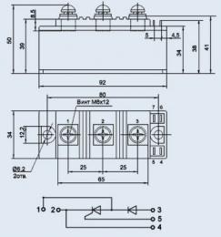 Купить Модуль диодно-тиристорный МТД-125-12