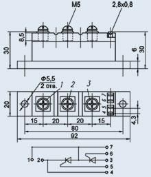 Купить Модуль тиристорный МТТ2-40-6