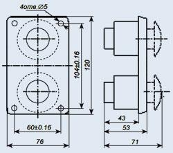 Купить Пост управления кнопочный ПКЕ-112-2У3