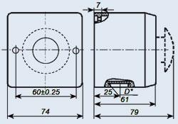 Купить Пост управления кнопочный ПКЕ-222-1У2