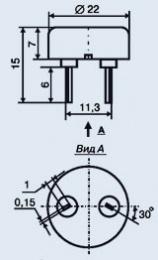 Купить Пьезокерамический излучатель ЗП-18