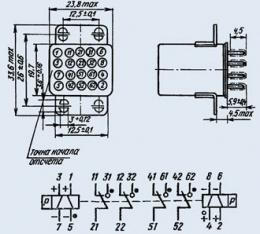 Реле электромагнитное слаботочное РПС-34Б РС4.520.247