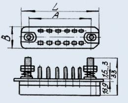 خرید کن فرکانس پایین مستطیل شکل کانکتور RP 14 10 l سوکت