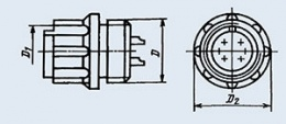 Buy Connector low-frequency cylindrical 2RM18K7G1V1
