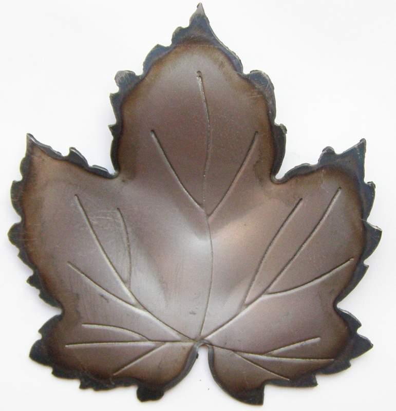 Декоративный элемент лист виноградный кованый М140