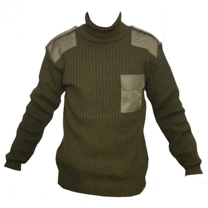 Buy Sweater knitted khaki 10001607