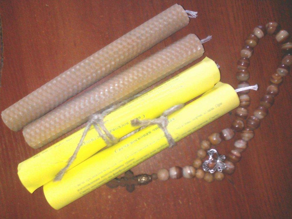 Купить Свечи восковые с травами