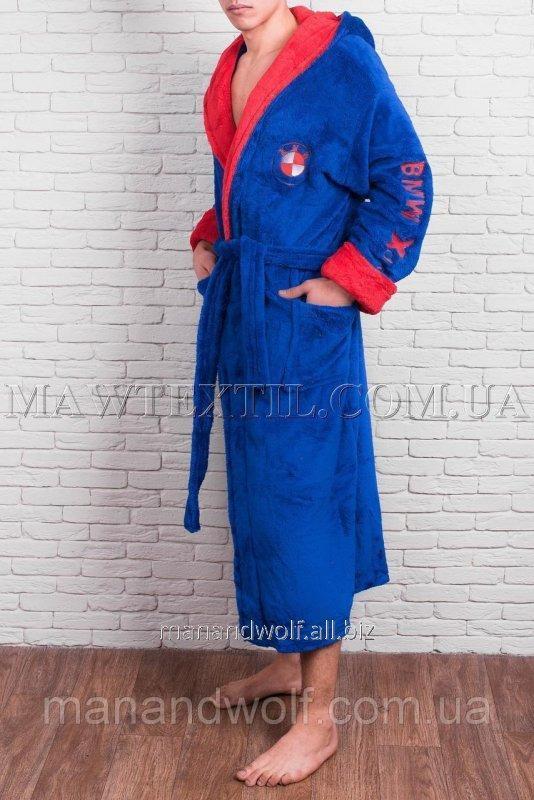 Купить Мужской халат BMW голубой